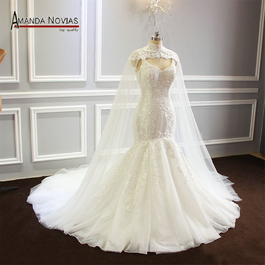 Mermaid Wedding Dresses 2019 With A Cape Top Quality Brand