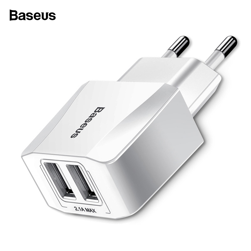Baseus Dual USB Charger For iPhone iPad Samsung Xiaomi mi 2.1A Fast Wall Charger EU Adapter Travel Charger Mobile Phone Charger Baseus Dual USB Charger For iPhone iPad Samsung Xiaomi mi 2.1A Fast Wall Charger EU Adapter Travel Charger Mobile Phone Charger
