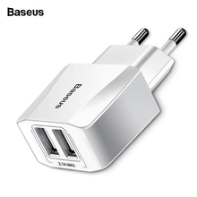 Baseus Dual USB Charger For iPhone iPad Samsung Xiaomi mi 2.1A Fast Wa