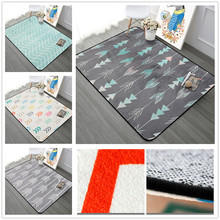 Nordic Simple Carpets For Living Room Home Bedroom Rugs And Carpets Fashion Music Floor Mat Coffee Table Area Rug Soft Velvet