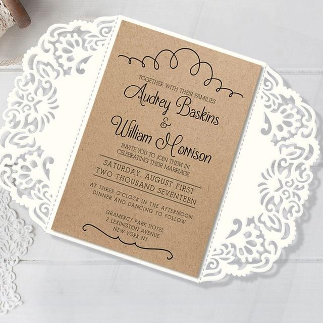 Vintage Wedding Invitations Rustic Invitation Card For Wedding High