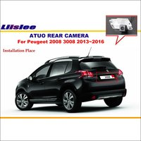 Liislee Reverse Camera For Peugeot 2008 3008 2013~2016 License Plate Light OEM / Car Rear View Camera / HD CCD Night Vision