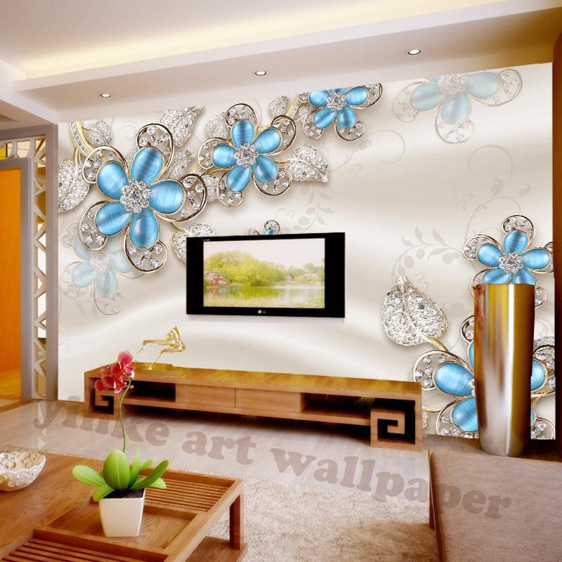 Fototapete Moderne Kunst Malerei Chinesischen Wohnzimmer Schlafzimmer TV  Hintergrund Kristall Diamant Design Großes Wandbild Tapete In Fototapete  Moderne ...
