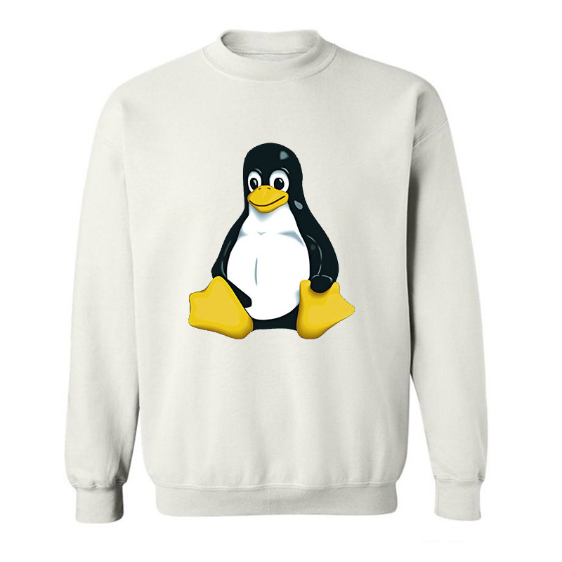 2017 Fashion Summer Style footed penguin LINUX funny Hoodies Sweatshirts for men