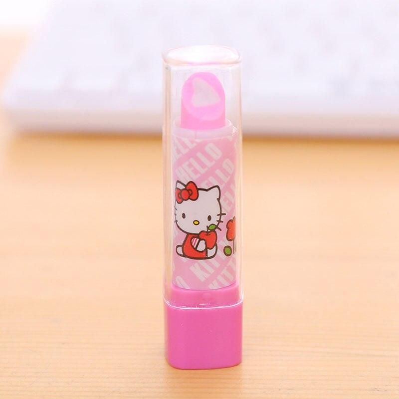 951ffb6f3 2pcs/Set Of Multi Kawaii Lip Balm Design Non Toxic Rubber Band Cute Hello  Kitty Lipstick Eraser Fruit Multi Kawaii Lipstick Desi-in Eraser from  Office ...