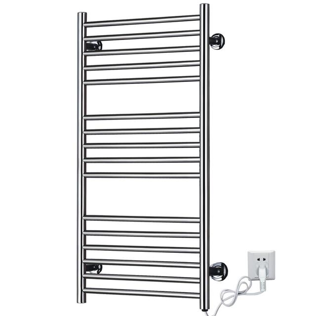 Heated Towel Racks Rail Stainless Steel Electric Wall Mounted Warmer Holder Dryer