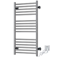 Free Shipping Heated Towel Rail 304 Stainless Steel Electric Towel Racks Warmer 500X100X900mm Power 120W 110