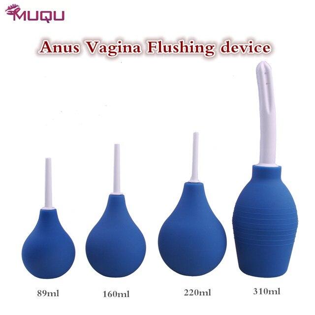 Медицинский силикон анальный чище задница влагалище киска Чистящее устройство четыре размера Клизма Шприц взрослых устройство бдсм гей анальный секс-игрушки