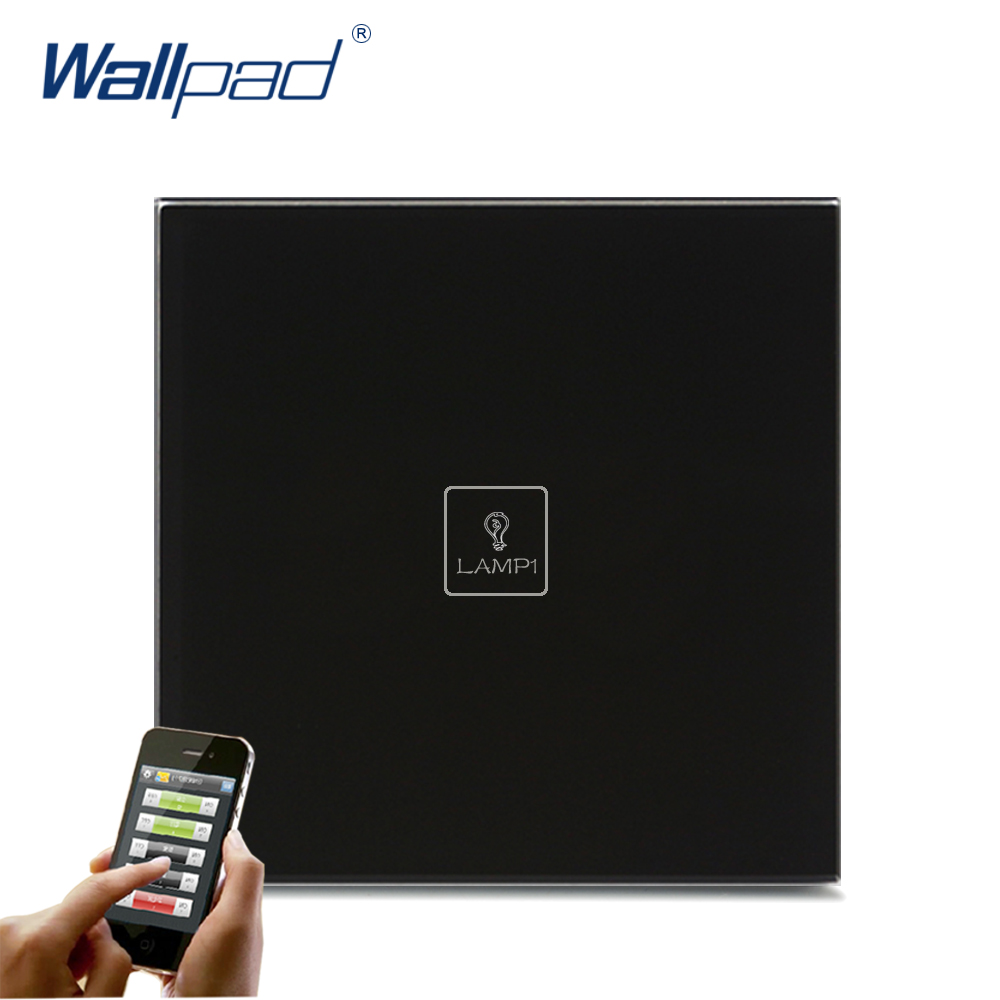 Hot Safe Wifi Remote Wallpad Black Glass Switch Android IOS 1 Gang APP Wireless WIFI Remote Touch Control Sensor Light Switch 118 us norm 1 gang crystal glass black wifi light switch wallpad wireless remote control wall touch light switch free shipping
