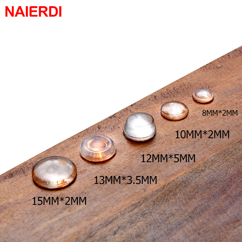 NAIERDI 30-80PCS Self Adhesive Rubber Damper Buffer Cabinet Bumpers Silicone Furniture Pads Cushion Protective Hardware