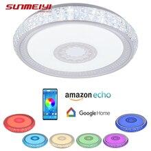 Modern LED Ceiling Lights APP Dimmable Bluetooth Music Smart Light For Living room Kitchen Bedroom Google Home Kids room Lamp цены