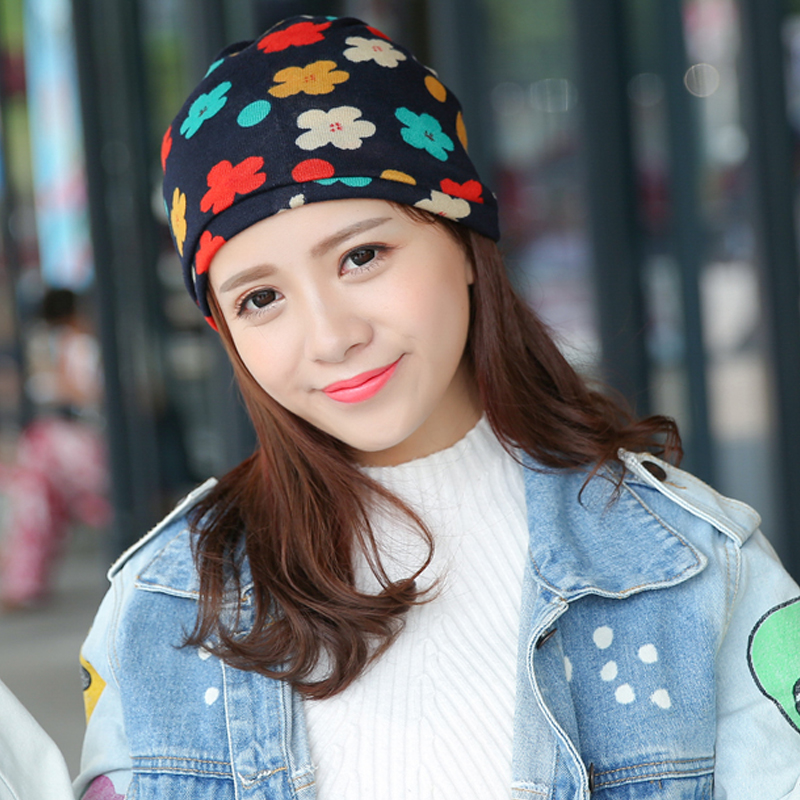 Autumn Fashion New Knit Baggy Beanie Hat With Flower Female Warm Winter Hats For Girls Women Beanies Bonnet Head Cap Gorros XHK