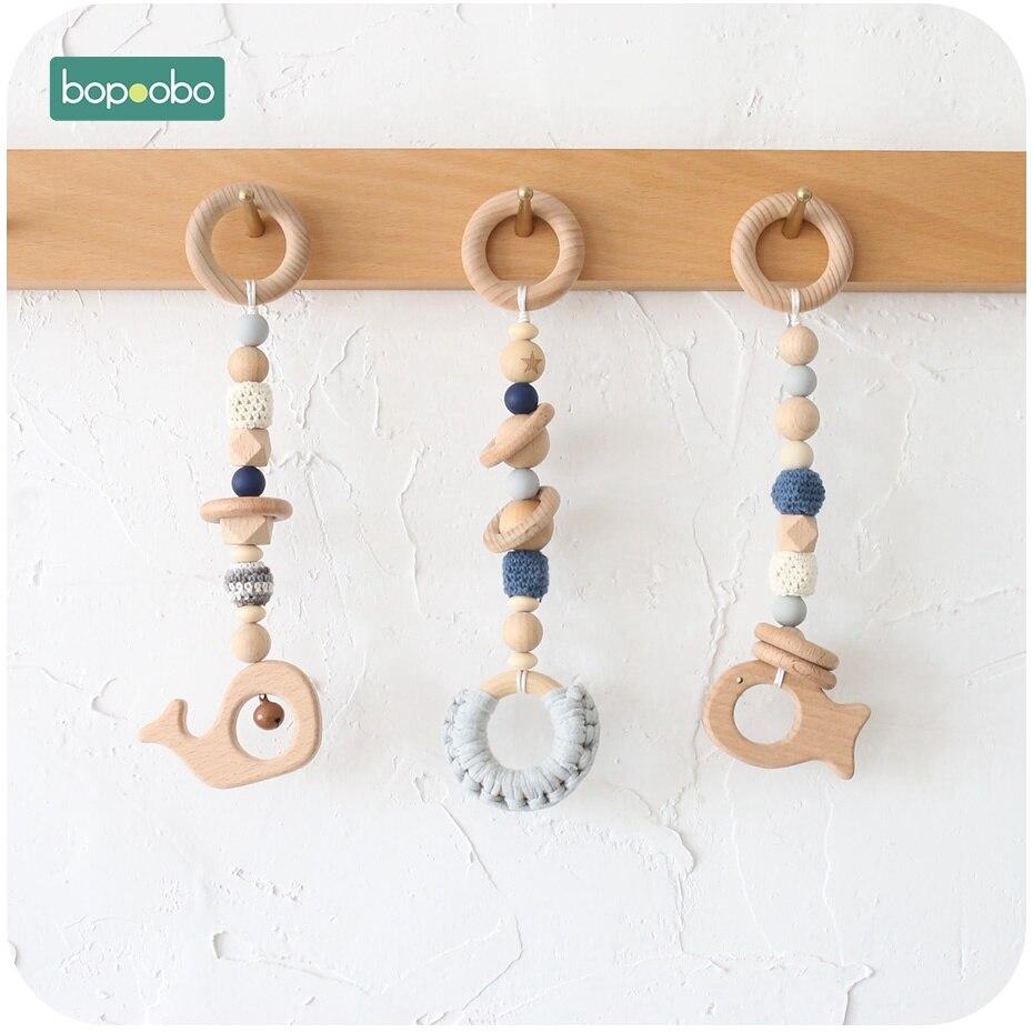 Bopoobo 1 zestaw dla dzieci drewniane zabawki dla dzieci działalności dziecko siłownia muzyka prezent noworodka zabawki do ściskania struktury dla niemowląt prezenty