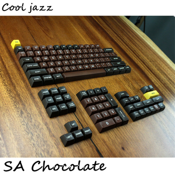 Chocolate SA profile r1 r2 r3 Etched Laser Coloring fonts PBT keycap For Wired USB mechanical keyboard Cherry MX switch keycaps декоративні лампи із дерева у стилі бра