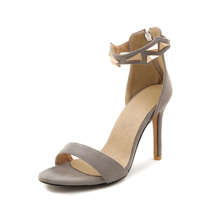 ec1302dc717 Mujer Negro rojo De 2018 Talla Doratasia Sexy gris Sandalia 46 Altos Boda Zapatos  Verano Sandalias Tacones Grande 32 Marca Fiesta TgawFqA