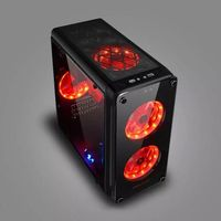 Plum Crystal Game Desktop Chassis Transparent Tempered Glass Panel Mini Shell Support MicroATX ITX Motherboard Computer