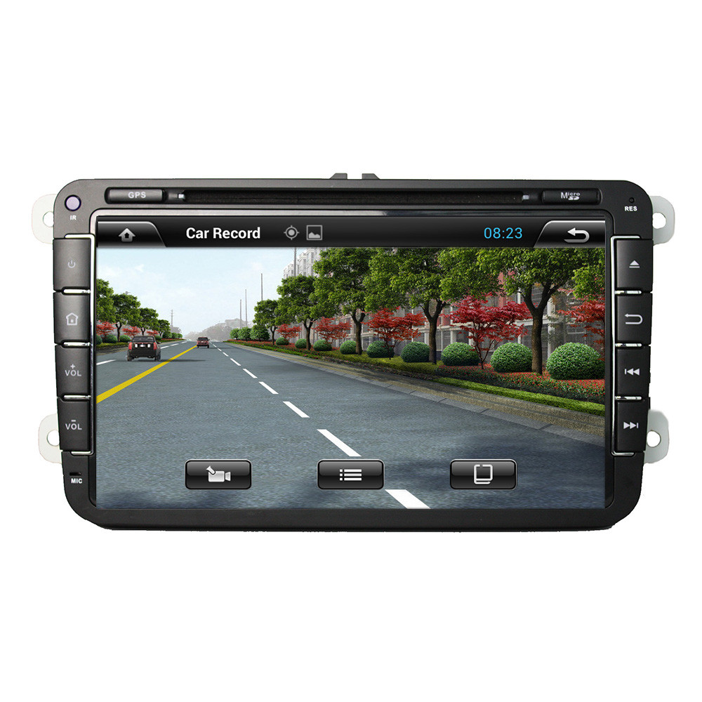 1GB/16GB 8 Inch Auto PC Car DVD Player Quad Core Android 5.1.1 Car DVD Player For Volkswagen VW Support 3G 4G Network