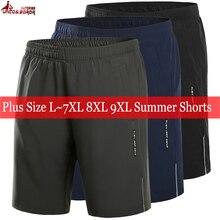 plus size 7XL 8XL 9XL Men`s Breathable Elastic Waist Casual Male beach Shorts outwear sporting gym Joggers men Reflective shorts