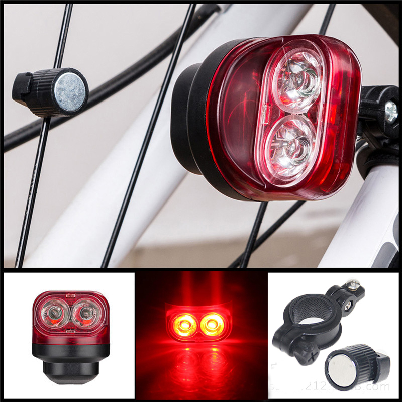 Water Resist Handlebar Mount Safe Reflector Bicycle Bike Front Rear Warn Lights