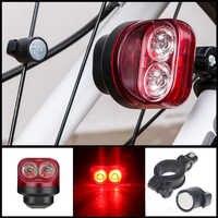 Wasserdicht Radfahren Bike Licht Magnetische Nacht Lauflicht Sicherheit Warnung Hinten Lampe Fahrrad Front Licht Lampe velo licht