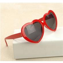 Мода любовь старинные в форме сердца очки женщин модной красный Amulti солнцезащитные очки женская винтаж зеркало синий солнечных очков женский