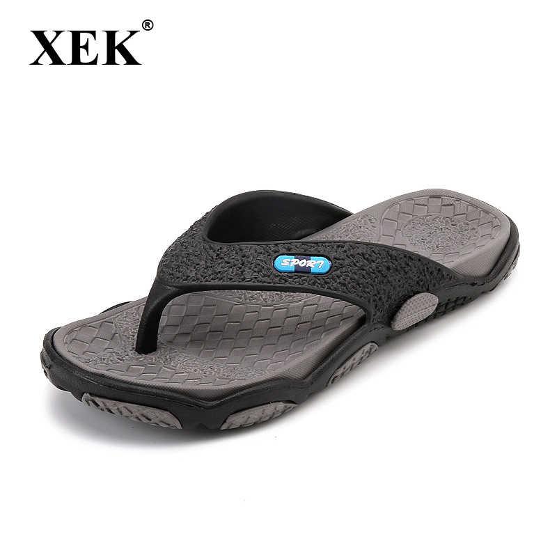 XEK 2018 Men s Slippers Summer Non-slip Massage Slippers Fashion Man Casual High  quality Soft f71ae08ed
