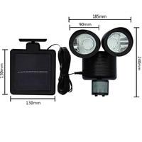 Solar Spot Light Dual Security Detector Motion Sensor Outdoor 22 LED Floodlight