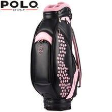 Бренд Polo подлинный Новый женщин для гольфа Сумка Водонепроницаемый Емкость Леди Стандартный мяч мешок вышитые пакет содержит полный набор клуб