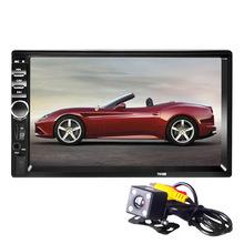 HD 7 autoradio 2 din car radio coche recorder Touch Screen car audio bluetooth usb rear view camera mp5 multimidio player 7018b cheap Radio Tuner BYNCG 87 5-108 MHz metal + plactis 50W*4 1026*600 178*100*50mm English 7010 0 8kg In-Dash