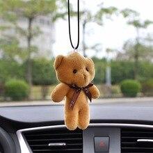 Автомобильный кулон, плюшевый мишка, украшение, подвесное украшение, Автомобильное зеркало заднего вида, подвеска, галстук, аксессуары в виде мишки, подарок