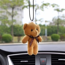 Car Pendant Plush Stuffed Cute Bear Decoration Hanging Ornament Automobile Rear