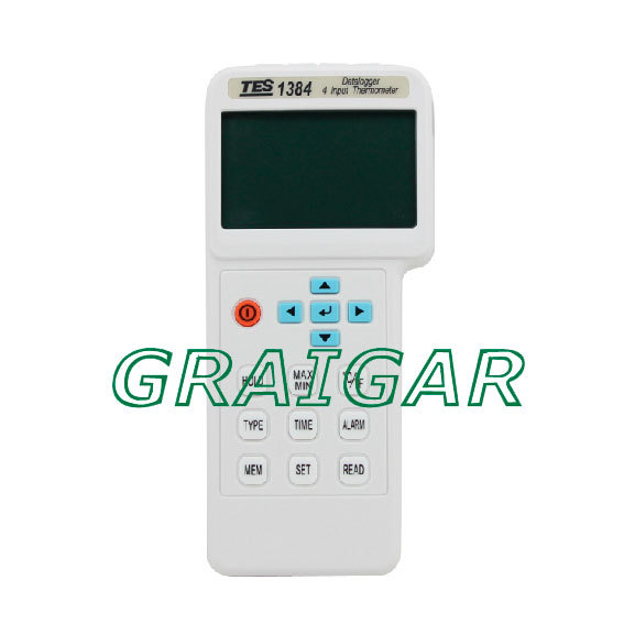 TES-1384 4 Input 2sec/time Resolution Thermometer/Datalogger