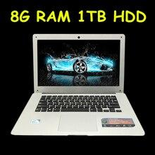 1920X1080P FHD Screen 8GB RAM 1TB HDD Windows7/8/10 Ultrathin Quad Core Fast Running Laptop Netbook Notebook Computer