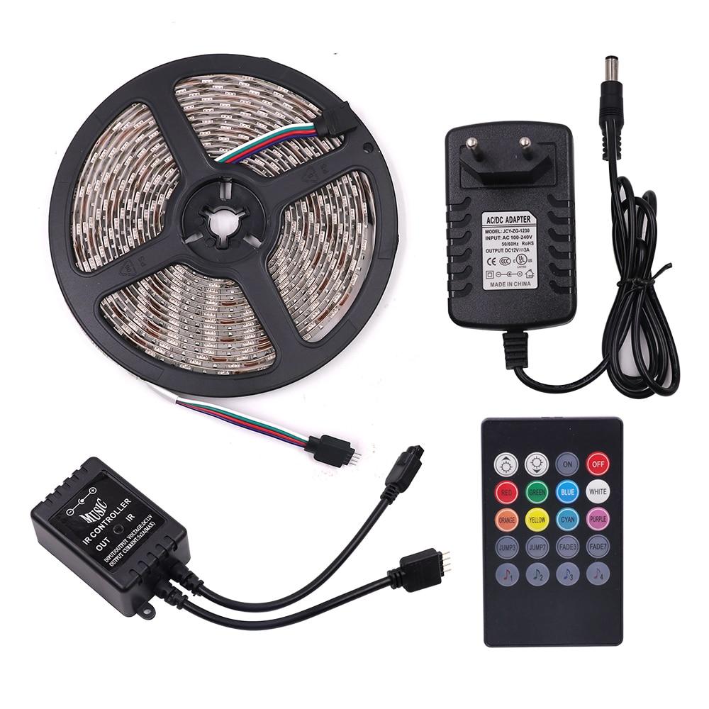5m DC12V LED Light 2835 5050 60Leds/m RGB LED Strip IP65 Outdoor Waterproof Led Ribbon Tape Home Decoration