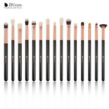 DUcare Eyeshadow Brush 15pcs/lot Makeup Brushes Set Eye Shadow Blending Eyeliner Eyelash Eyebrow Brush Makeup soft bristle makeup brush 15pcs