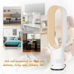 Bladeless Fan Remote Control Airflow Cooling Cool Fan Low Portable Home Family Kids Safe Use EU/US Plug