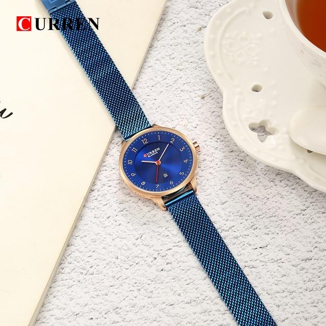 Curren Fashion women's watches Stainless Steel Gold watch women Curren Hot Selling Ladies Watch Quartz women watches 9035B