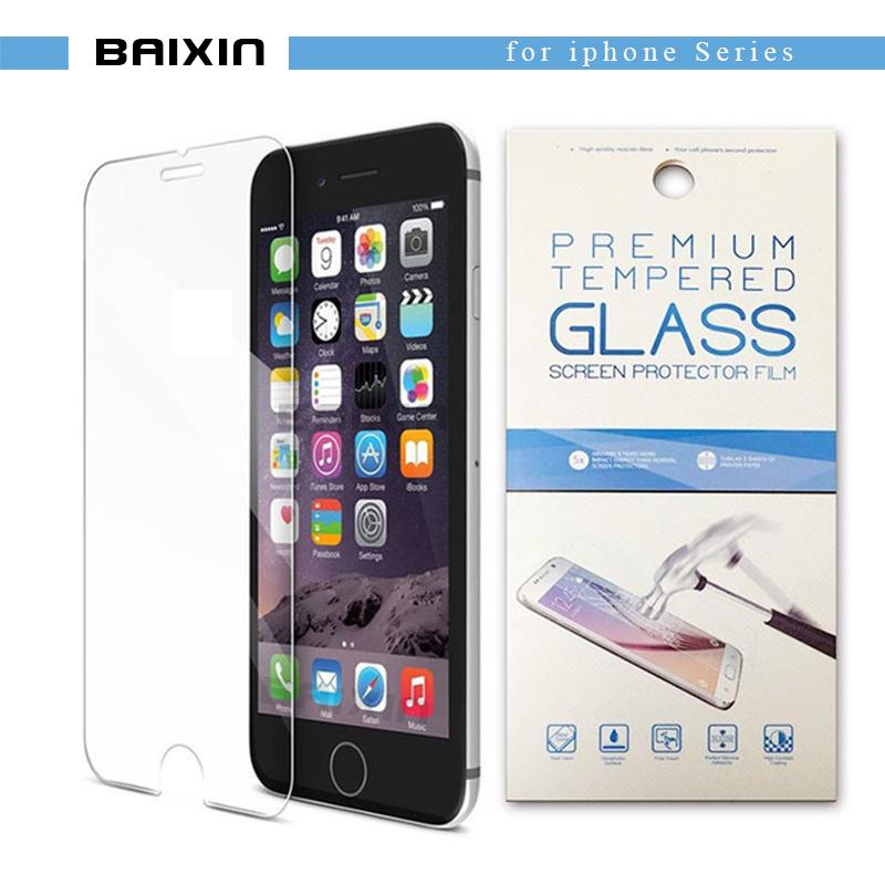 baixin Tempered glass For font b iphone b font 4s 5 5s SE 6 6s 7