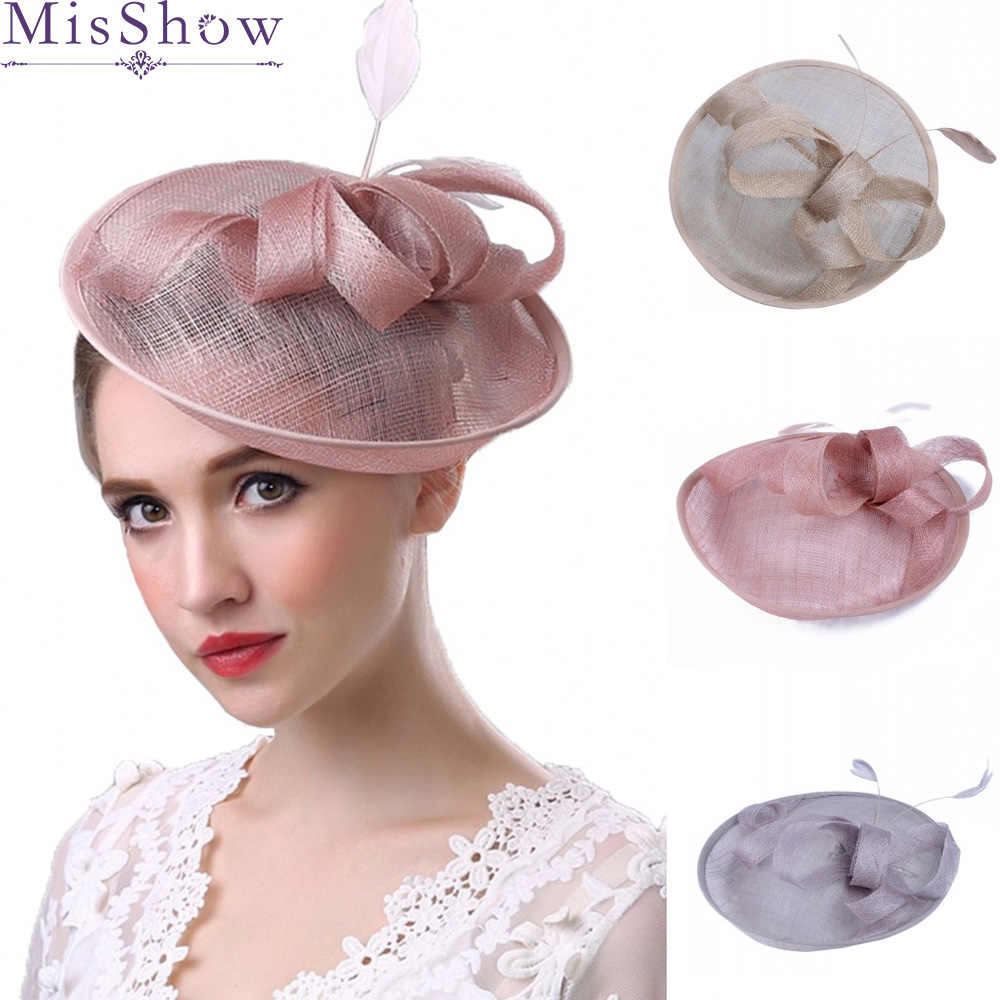 0ee7eed8 Detail Feedback Questions about 2019 Wedding Hats For Women Vintage Net Bridal  Hats Wedding Accessories Brides Fascinator Pink Wedding Birdcage Veil Face  ...