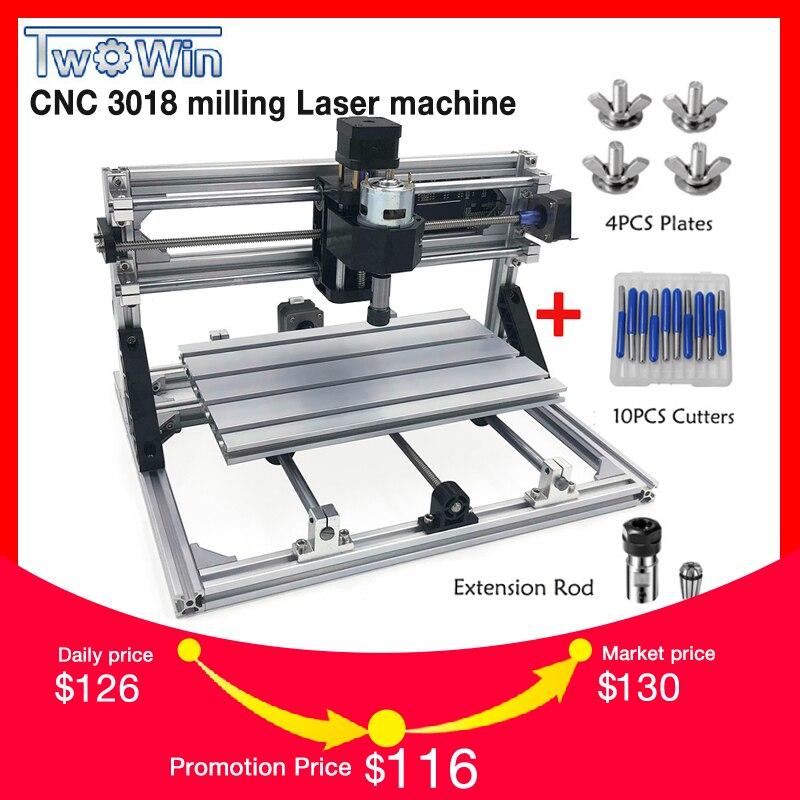 CNC3018 ER11, DIY Mini CNC Machine De Gravure, Pcb Fraiseuse, Bois Routeur, Gravure Laser, GRBL Contrôle, Imploré métal
