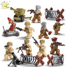 4 unids / lote SWAT Figura Militar Segunda Guerra Mundial Soldados del Ejército Bloques de Construcción de Fuerzas Especiales Conjunto Legoe Compatible Arma Ladrillos Juguetes