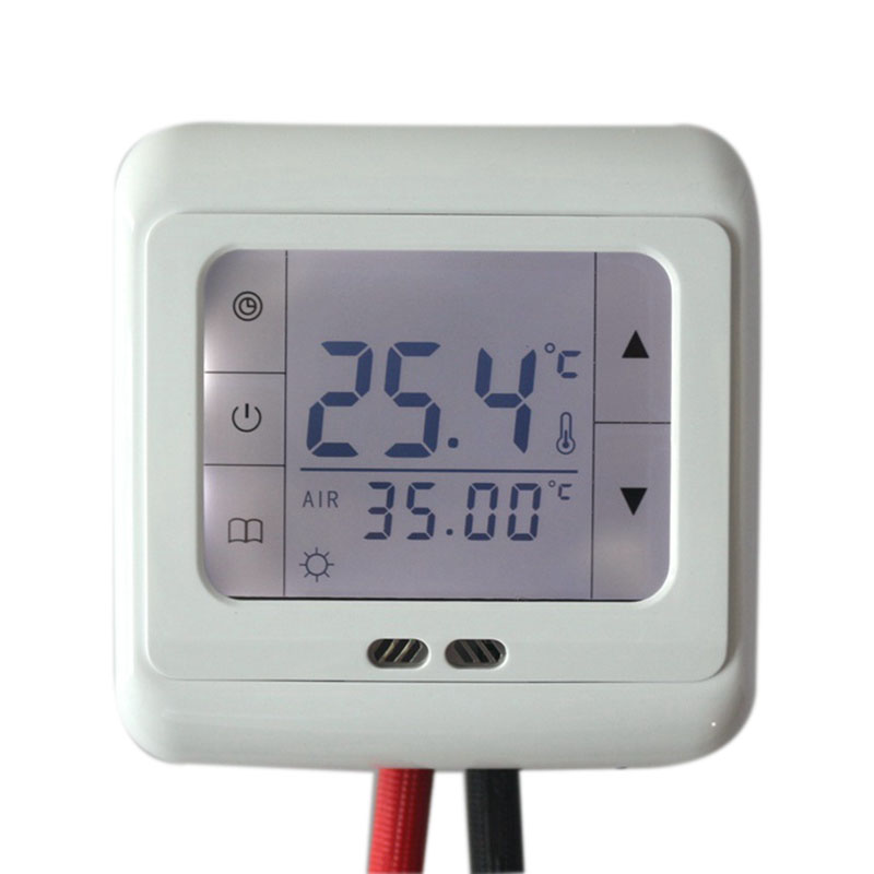 Digital Under Floor Heating Thermostat BYL105B Temperature Controller White Backlight Touch Screen Weekly Programmable for Room 220v lcd programmable electric digital floor heating room thermostat blue backlight weekly warm floor controller