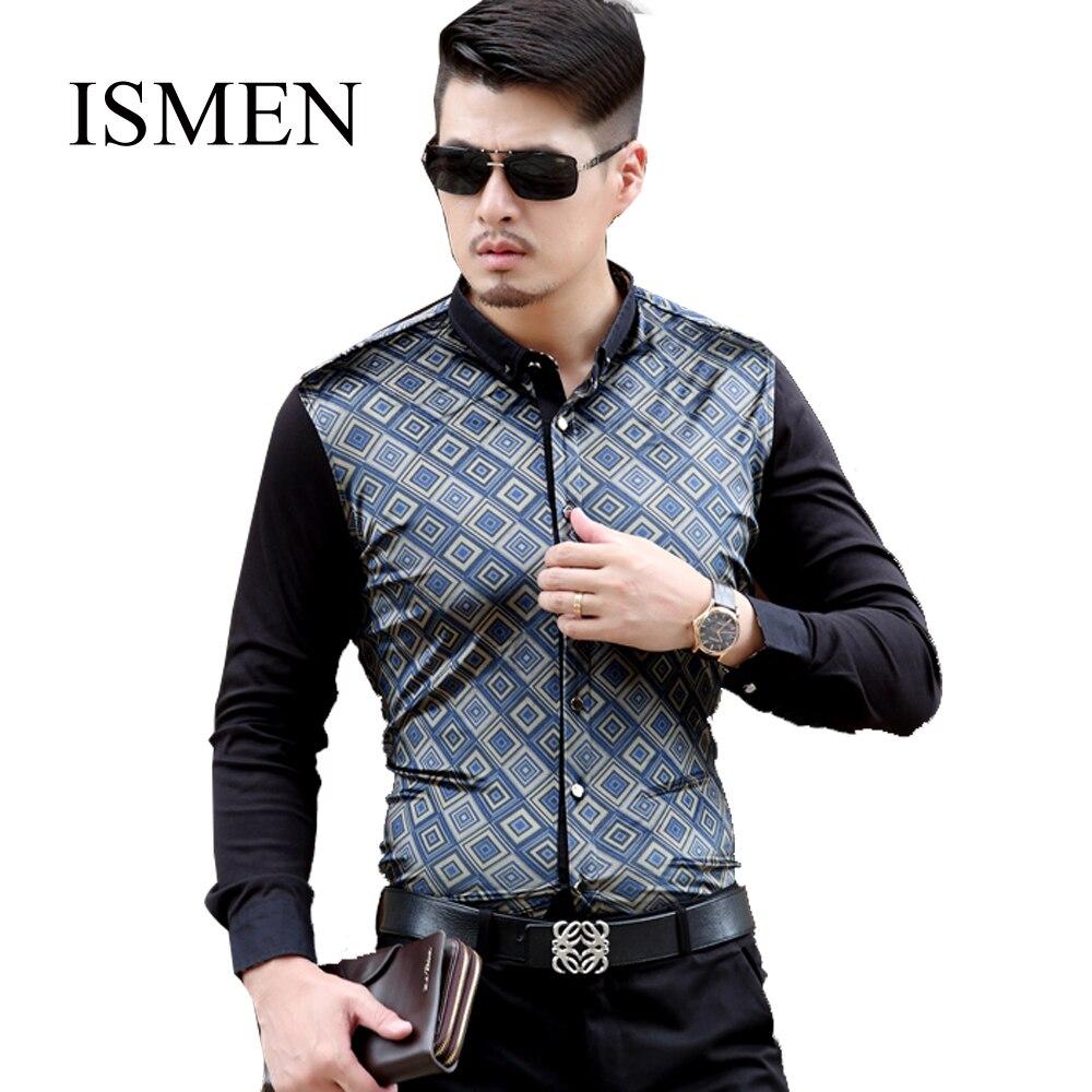 Ismen mens dress shirts long sleeve shirt full sleeve man for Men s wedding dress shirts