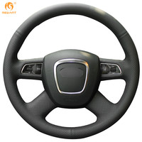 Black Leather Steering Wheel Cover For Audi Q5 2010 2011 2012