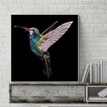 Póster de foto en lienzo de pared e impresión de aves, pintura de animales para decoración de paredes, cuadros sin marco, decoración de pared del salón, lienzo artístico