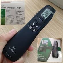 Оригинальная упаковка R800 пульт дистанционного управления поворотом страниц красный Aser указатели Лазерная ручка Презентация презентация ручка