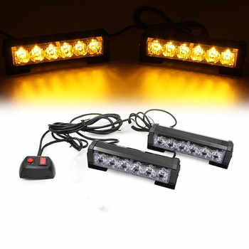 Car Truck Front Grille LED Strobe Flash Warning Light Auto Police LED Bar Emergency Light 12V Caution Lamp - DISCOUNT ITEM  31 OFF Automobiles & Motorcycles