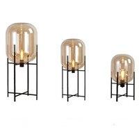 Modern Minimalist nordic Floor Lamp table light glass globe desk Lamp Living room Reading table lamp Floor light E27