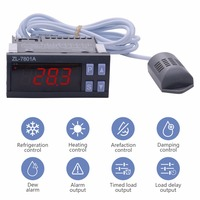 ZL 7801A Temperature Humidity Controller Incubator Multifunctional Automatic Incubator Temperature Sensor Temperature Meter