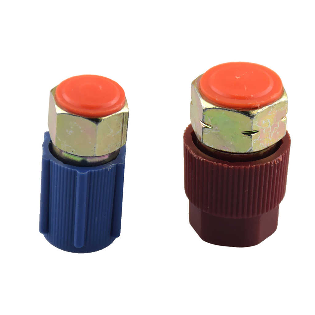 2 Pcs Airconditioning A/C Quick Couplers Connectors High Low Side Port Adapter Retrofit R12 to R134 Car Accessories